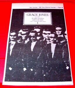 "Grace Jones The Apple Stretching Vintage ORIG 1982 Press/Mag ADVERT 8.5""x 5.5"""