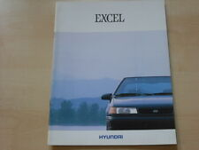 54140) Hyundai Pony Excel engl. Prospekt 199?