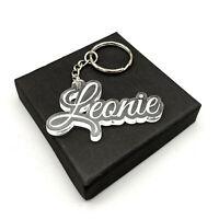 Namensanhänger aus Acrylglas - personalisierter Schlüsselanhänger - Geschenk