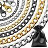 Halskette Panzerkette Herrenkette Silbern Golden Schwarz Königskette Armband XXL