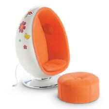 American Girl Julie EGG CHAIR SET ottoman speakers BKD89
