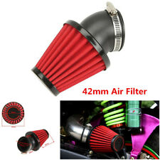 Red Adjustable 45° Bend 42mm Cold Air Intake Air Filter For Motorcycles Scooter
