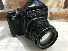 [N MINT] Pentax 6x7 67 Film Camera + Super Takumar 105mm f/2.4 Lens From JAPAN