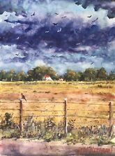 """ORIGINAL Watercolor Painting """"Plains"""" 9"""" X 12"""""""