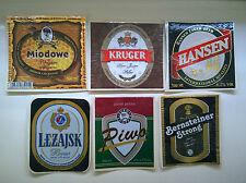 75 Beer label/Bier-Etiketten Polish