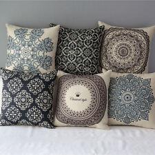 Geometric Natural Cotton Pillow Case Waist Throw Cushion Cover Home Sofa Decor