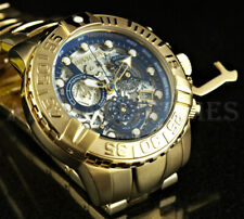 NEW Invicta 47mm Subaqua Noma II Skeletonized Dial Ltd Ed 18K Gold Plated Watch