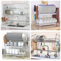 Dish Drying Rack Cutlery Holder Storage of Chopstick Holder 1/2/3 Tiers Kitchen
