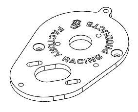 Integy CAC-125/PK Motor Plate for 3racing Cactus