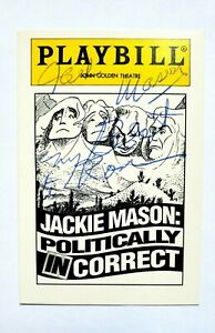 SIGNED JACKIE MASON POLITICALLY INCORRECT PLAYBILL CARD BROADWAY SHOW AUTOGRAPH