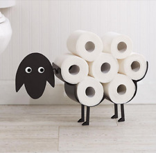 Black Sheep Toilet Roll Paper Holder Free-Standing Bathroom Tissue Storage gift
