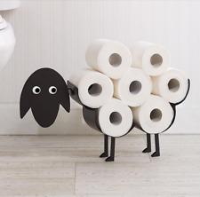 Black Sheep Toilet Roll Paper Holder Free-Standing Bathroom Tissue Storage