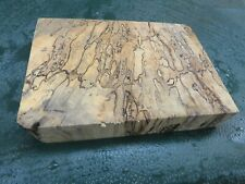 MM-SPALTED  MAPLE  DELUXE  KNIFE BLOCK/SCALES/ CALLS/ PEN BLANKS--M--29