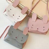 Children Kids Girl Shoulder Crossbody Bag PU Leather Rabbit Mini Bag For Money
