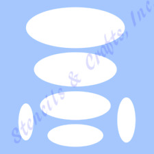 OVAL STENCIL MANY SIZES STENCILS TEMPLATE TEMPLATES PAINT ART SHAPES CRAFT NEW