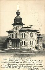 A View of Akin Hall Library, Pawling Ny 1909 Rotograph Company Postcard