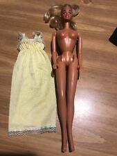 Vintage Mattel 1966 Barbie Doll Bendable Legs Twist & Turn Blonde Hair Hong Kong