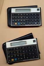 Lot of (2) Vintage Hewlett Packard HP 12C Financial Calculator With Case Sleeve