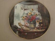 THE MORNING BOUQUET Collector Plate GLENNA KURZ Flowers from Grandma's Garden