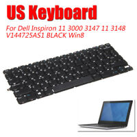 US Keyboard Replace For Dell Inspiron 11 3000 3147 11 3148 V144725AS1 BLACK