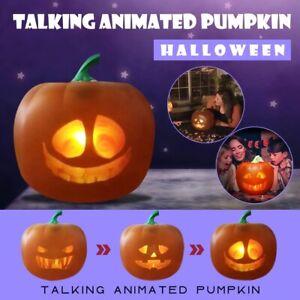 LED Halloween Talking Animated Pumpkin Projection Lamp Toy Halloween Speaker