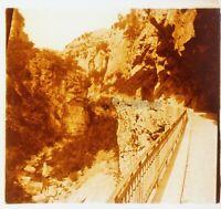 Gorges Del Lupo 1925 Francia Foto Stereo PL58L2n Placca Da Lente