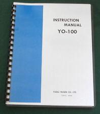 "Yaesu YO-100 Instruction manual: w/11""X17"" Schematic & Protective Covers"