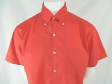 Vintage Marlboro Red Button Front Short Sleeve Cotton Blend Perm Press Shirt L