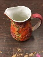 Autumn Leaf Orange Pitcher Painted Unbranded