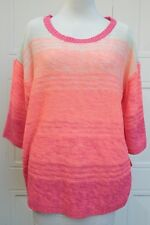 Pink & Coral Ombre Knit Jumper SOUTH Plus SIZE 20-22