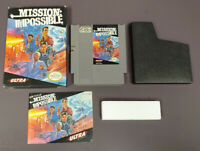 Mission Impossible NES Nintendo Game Original BOX Complete CIB Manual Dust Cover