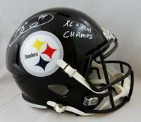 Brett Keisel Signed Pittsburgh Steelers F/S Speed Helmet w/ Insc- JSA W Auth