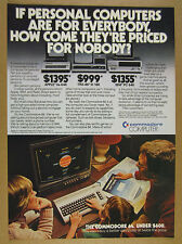 1983 Commodore 64 Computer compared to Apple IIe TRS-80 & IBM PC vintage Ad