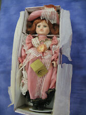 Victorian Porcelain Doll- Crimson Collection-Edna 80147-18 In. - In Box