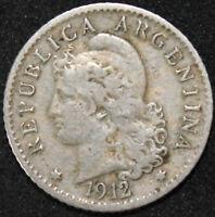 1912   Argentina 5 Centavos   Cupro-Nickel   Coins   KM Coins