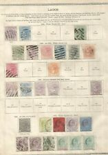 NIGERIA - LAGOS  1876-1906  QV - KEVII,  MINT & USED COLLECTION.  Cat £218