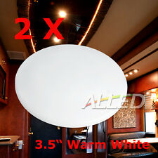 "2X12V Warm White 3.5"" LED Roof Cabin Light Caravan/Motorhome/RV/Truck Dome Lamp"