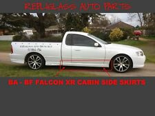 FORD FALCON BA BF XR6 XR8 CABIN UTE SIDE SKIRTS PAIR FIBREGLASS NEW