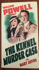 THE KENNEL MURDER CASE WILLIAM POWELL AS NEW NTSC VHS VIDEO FOR USA PLAYERS