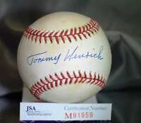 Tom Henrich Jsa Certed American League Autograph Baseball Authentic Signed