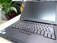 CAPTAIN NOTEBOOK: LENOVO THINKPAD T410 i5 DVD-RW 8GB 120GB SSD 9C 16:10 DISPLAY