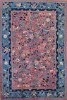 Antique Vegetable Dye Floral Peking Chinese Oriental Area Rug Wool Handmade 6x9