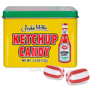 KETCHUP CANDY 12 Piece Tin Flavor Hard Candy - Archie McPhee