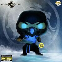 Funko Pop! Mortal Kombat SUB-ZERO Glow In The Dark (1057) PREORDER w/ PROTECTOR