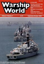 WARSHIP WORLD MAGAZINE SEPTEMBER OCTOBER 2005 HMS FALMOUTH HM VIENNA & BRITTANY
