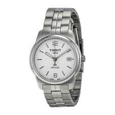 Tissot PR100 White Dial Stainless Steel Mens Watch T0494101101700