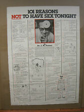 vintage 101 reasons NOT to have sex tonight By Dr. I. M Potent poster 1981 2943