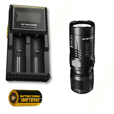 Nitecore EC11 900Lm Flashlight -Includes D2 Charger & 1x IMR 18350 Battery