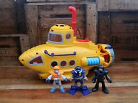 Fisher Price Imaginext Yellow Submarine with Mini Figures