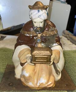 Vintage Nativity Scene Replacement Piece Ceramic Wiseman